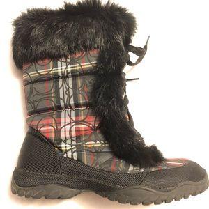 Coach Jennie fur trim boots